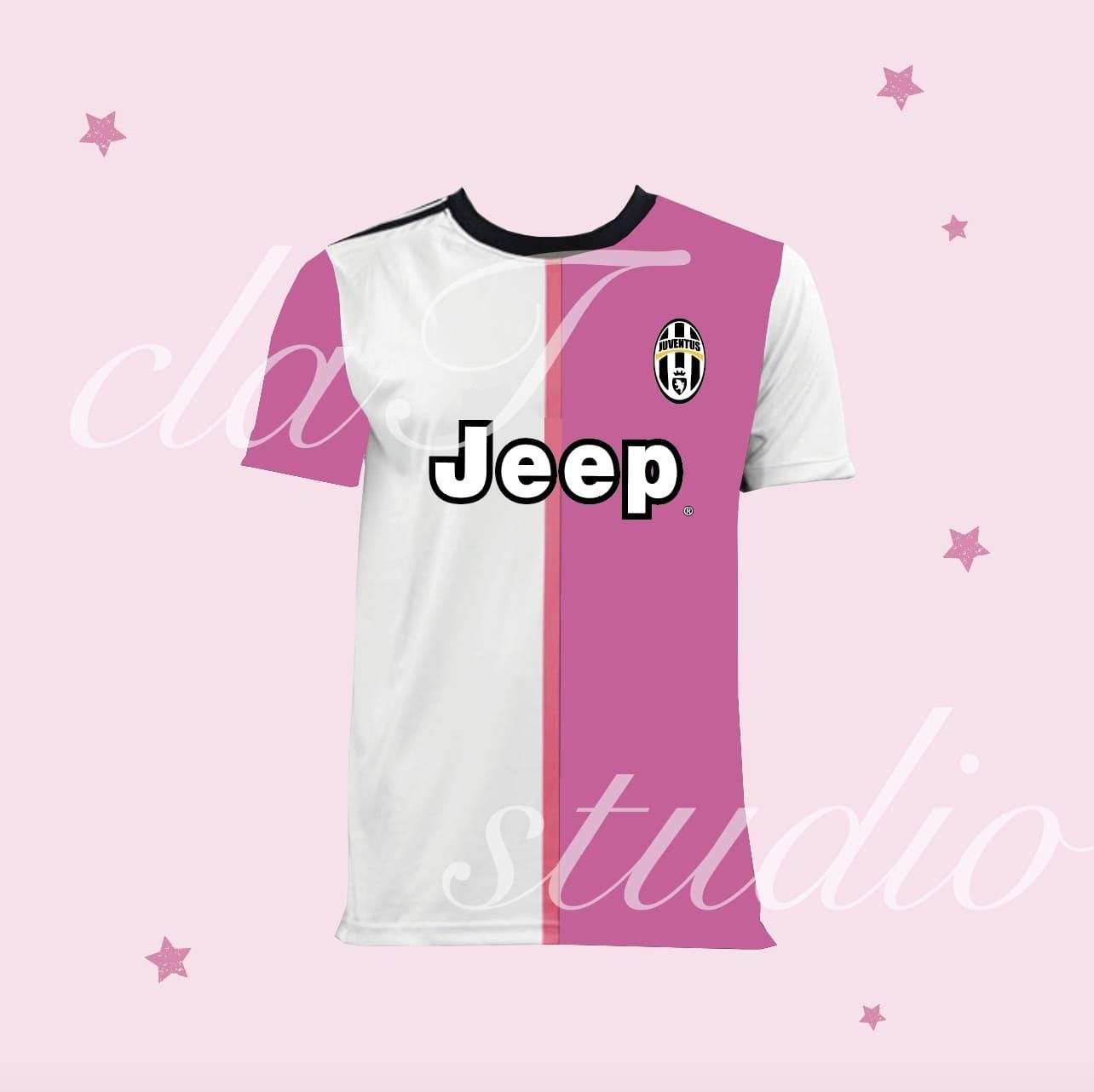 ピンクのサッカーユニフォームクラスtシャツ_image_0001
