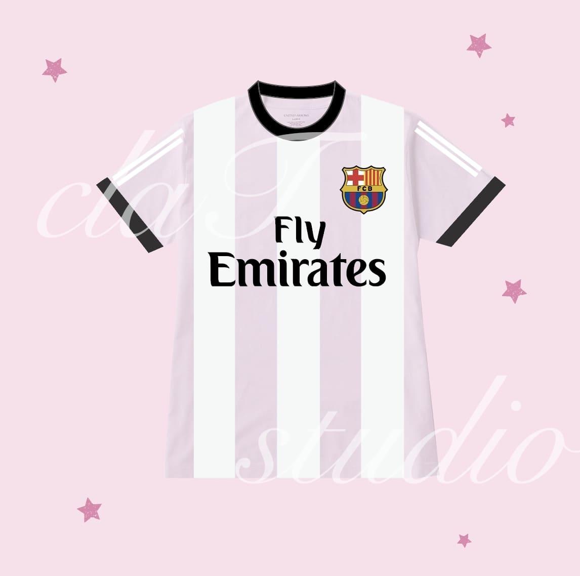 ピンクのサッカーユニフォームクラスtシャツ_image_0002