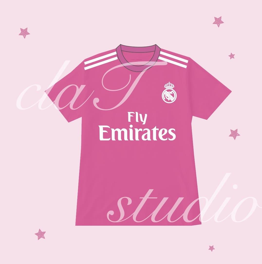 ピンクのサッカーユニフォームクラスtシャツ_image_0003