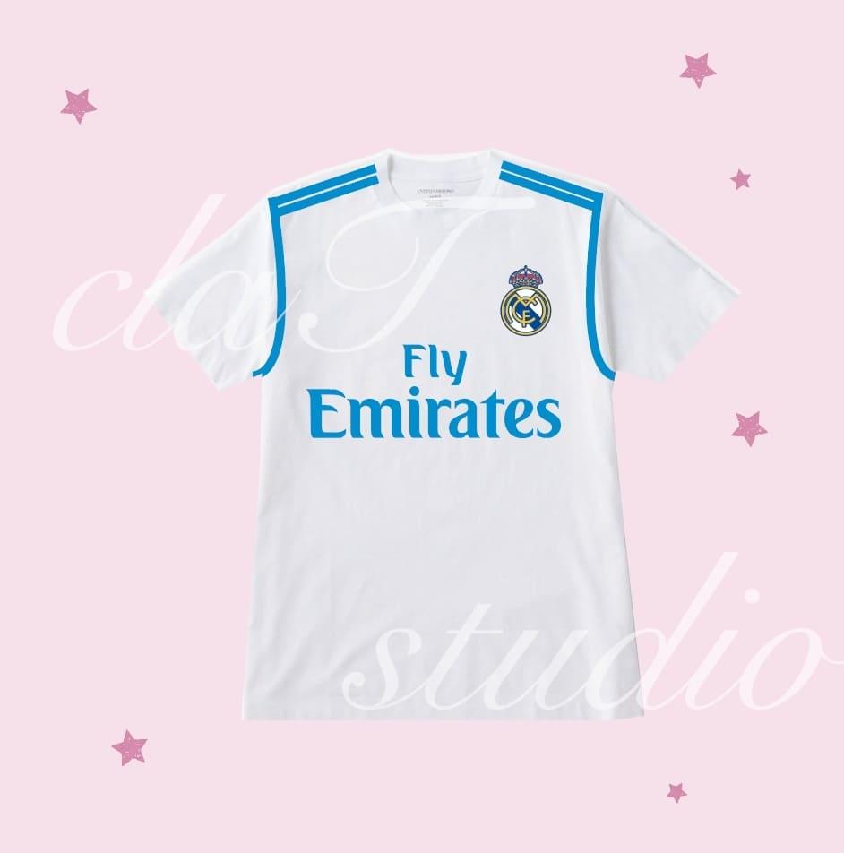 白のサッカーユニフォームクラスtシャツ_image_0003
