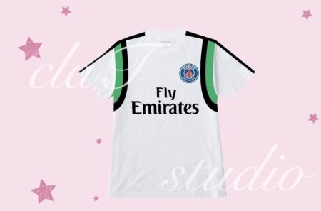 緑のサッカーユニフォームクラスtシャツ_fv