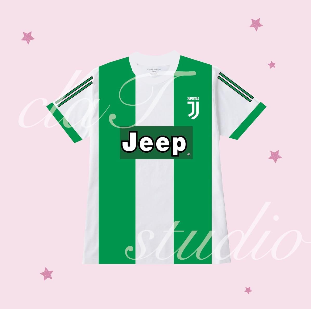 緑のサッカーユニフォームクラスtシャツ_image_0001