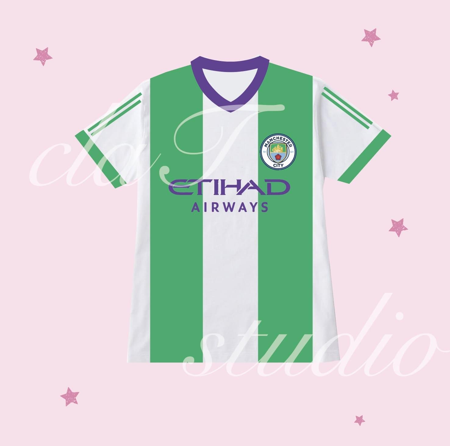 緑のサッカーユニフォームクラスtシャツ_image_0002