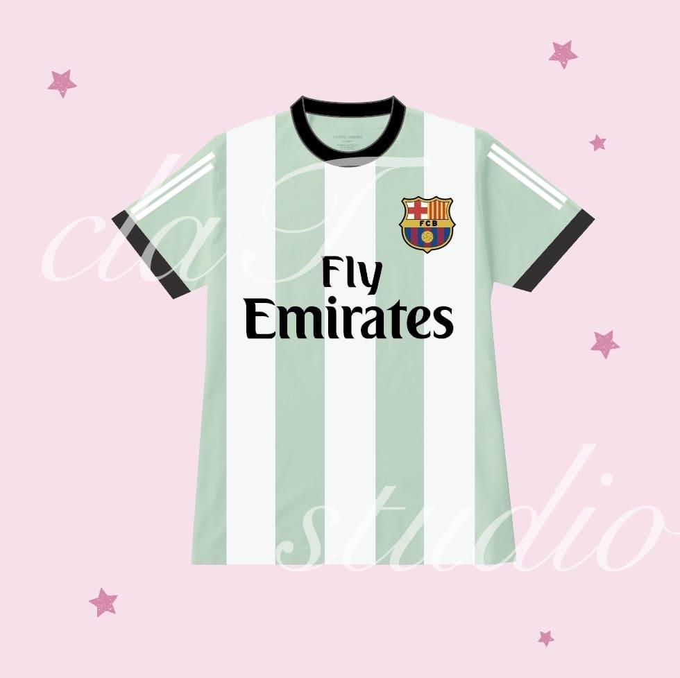 緑のサッカーユニフォームクラスtシャツ_image_0003