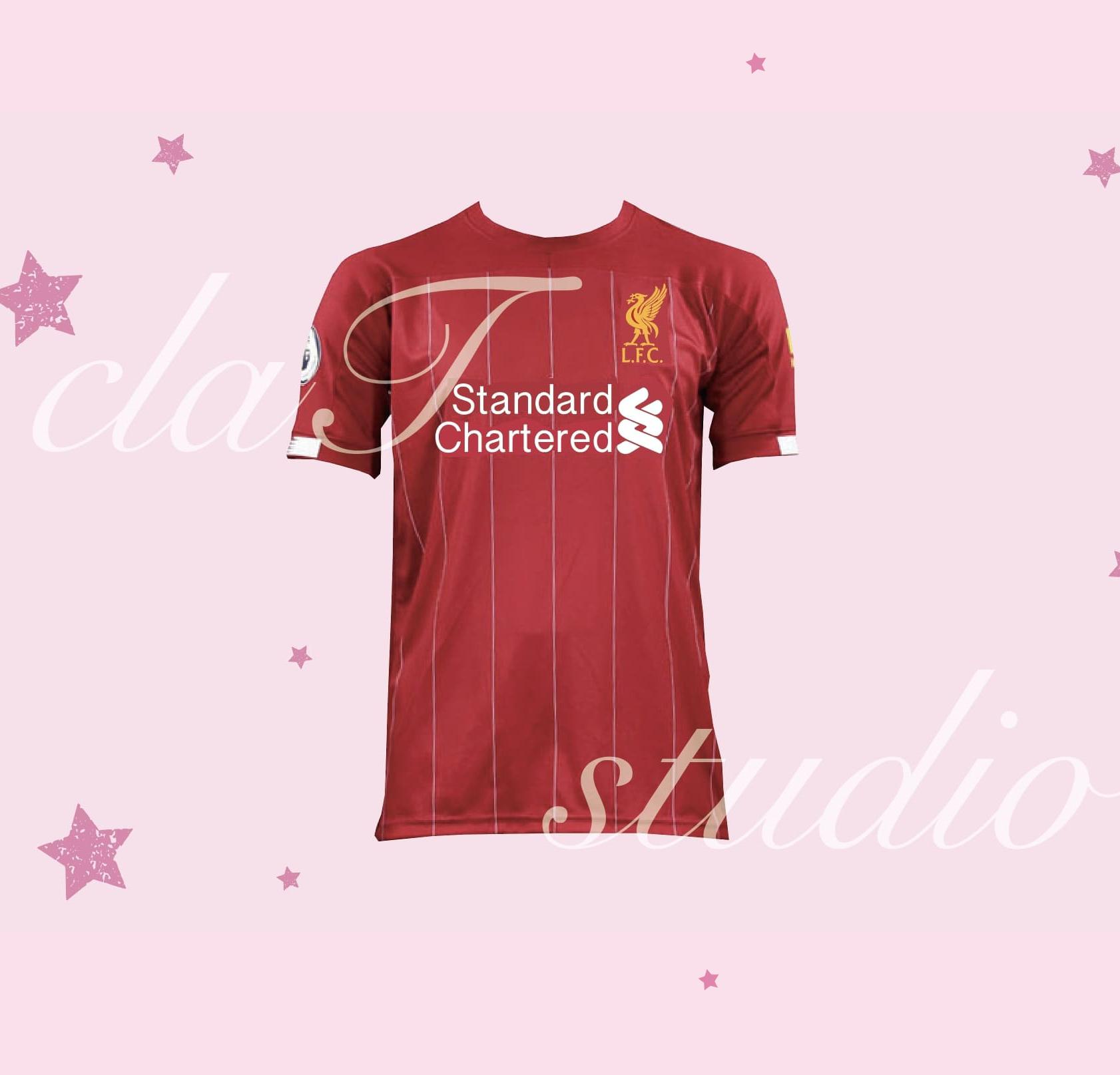 赤のサッカーユニフォームクラスtシャツ_image_0003