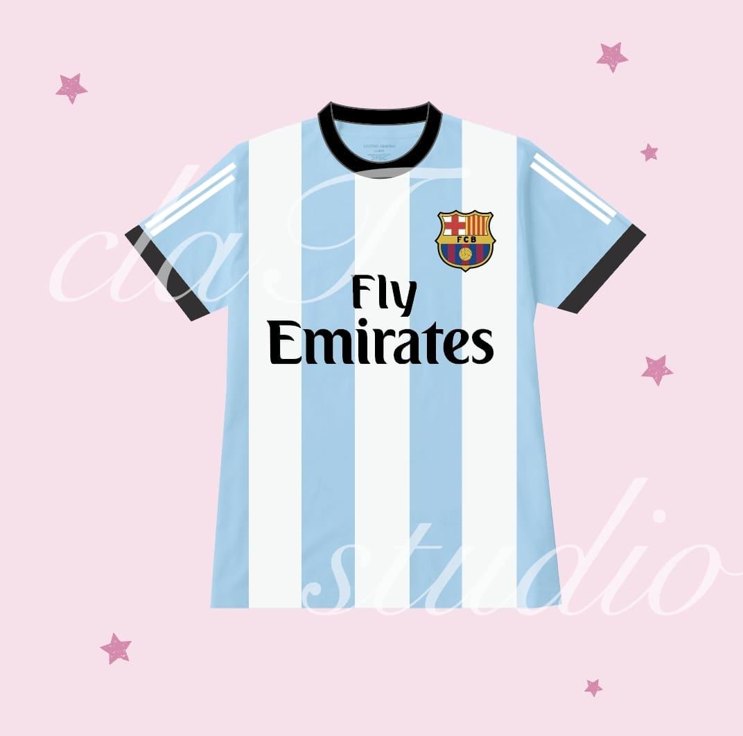 青のサッカーユニフォームクラスtシャツ_image_0003