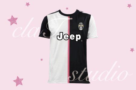 黒のサッカーユニフォームクラスtシャツ_fv