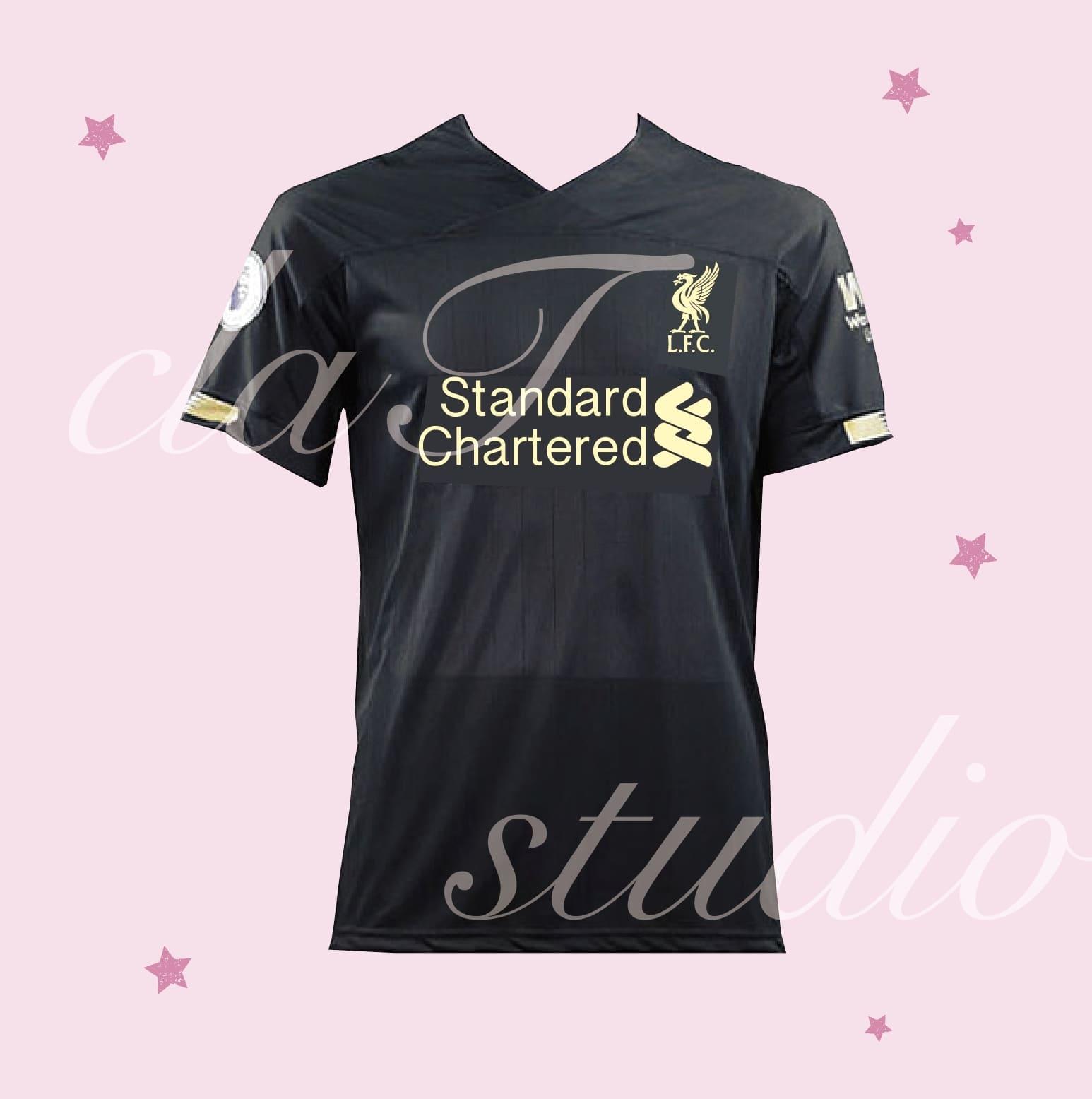 黒のサッカーユニフォームクラスtシャツ_image_0001